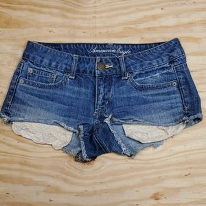☀️☀️☀️ American Eagle denim shorts size 0 ☀️☀️☀️